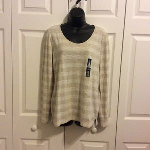 NWT Gap Body Oatmeal Striped Tee